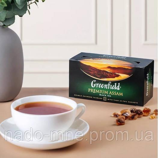 Чай черный Greenfield Premium Assam - Черный байховый, пакетированный 25 шт