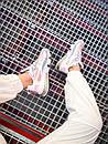 Кроссовки женские Nike 270 React White Light Pink Grey, фото 5