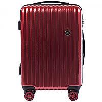 Чемодан поликарбонатный Wings PC 5223 маленький - ручная кладь (S, 35 л) Бордовый (Blood red)