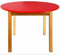 Детский столик круглый, красный, фото 1