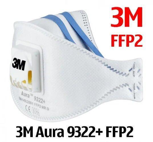 Антивірусний респіратор 3M AURA 9322+ (ffp2) - фото 1