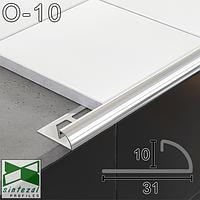 Соединительный угловой профиль для плитки 10мм.,11х31х2500мм. Полированная нержавеющая сталь., фото 1