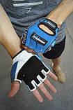 Перчатки для фитнеса и тяжелой атлетики Power System Workout PS-2200 L Blue, фото 7