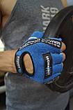 Перчатки для фитнеса и тяжелой атлетики Power System Workout PS-2200 L Blue, фото 8