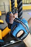 Перчатки для фитнеса и тяжелой атлетики Power System Workout PS-2200 L Blue, фото 9