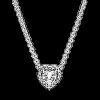"""Серебряное колье Pandora Moments """"Преданное сердце"""" 398425C01"""