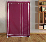 Тканевый шкаф складной STORAGE WARDROBE KM-105 на 2 секции (106х45х170 см), органайзер для одежды, Товары для, фото 6