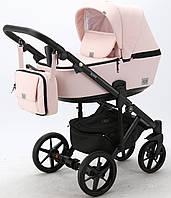 Коляска Adamex Olivia PS-22 розовая пудра и кожа