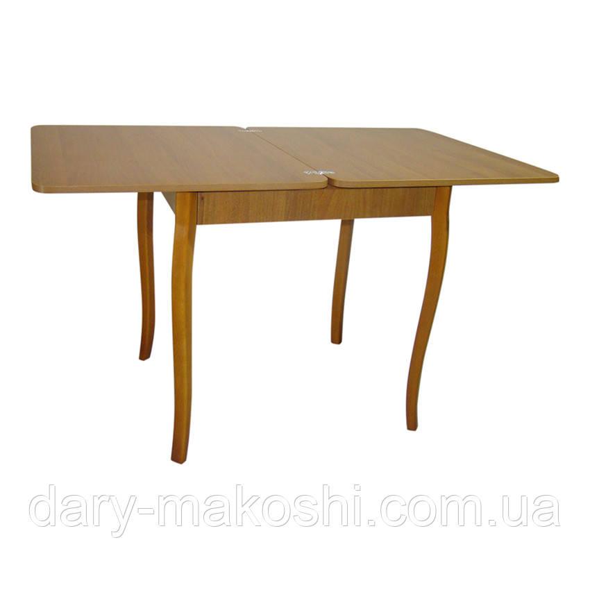 Стол обеденный раскладной Тавол Формади 65смх75смх75см с деревянными резными ножками Орех