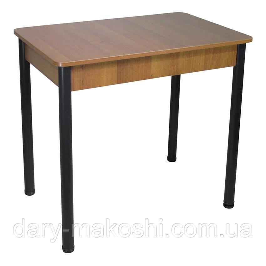 Стіл Тавол Класик ноги метал чорні 93 см х 60 см х 76 см Горіх
