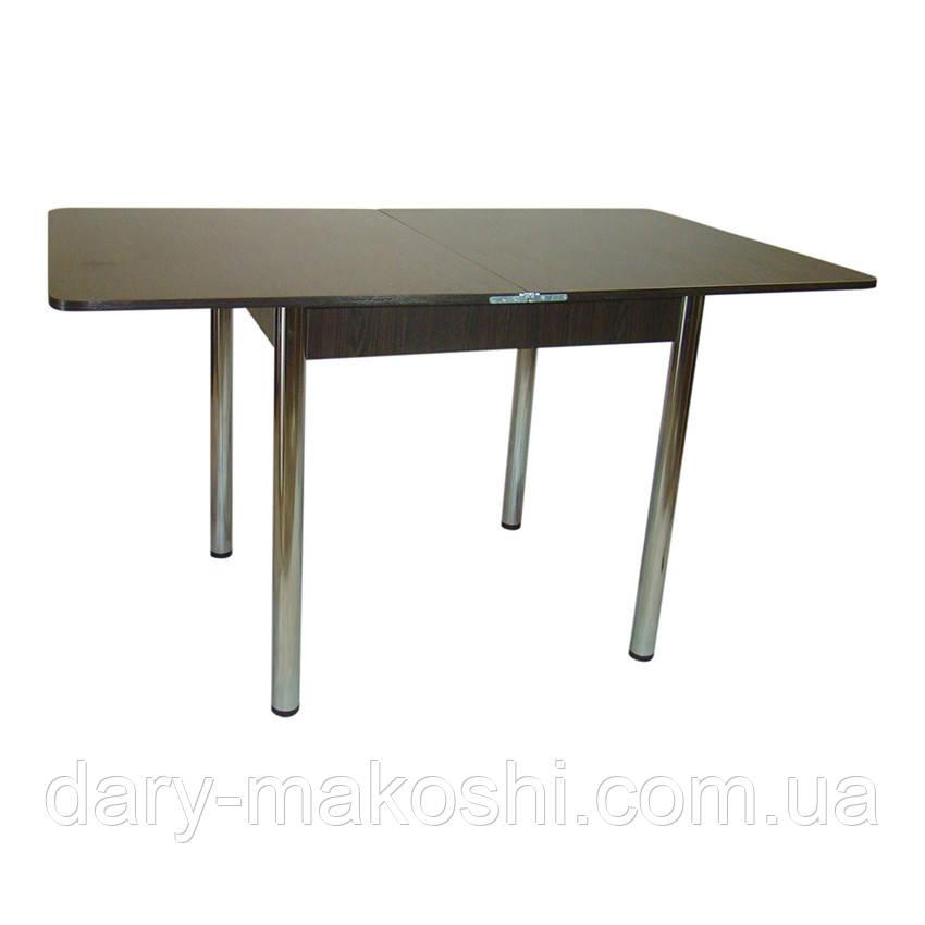 Стол раскладной Тавол Гранди 70 см х 80 см х 75 см ноги металл хром Венге