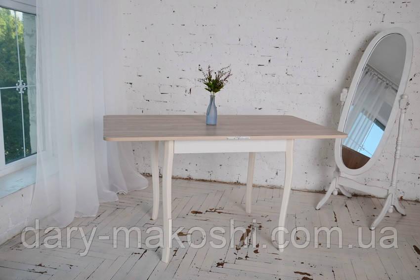 Стол обеденный раскладной Тавол Гранди  ноги фигурные дерево 70 см х 80 см х 75 см Ясень