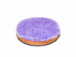 Полировальный круг гибридная шерсть на поролоне - Lake Country Purple foamed  wool pad 75 мм. (HD-2325)