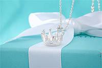 Серебряный кулон Crown Design Pendant Tiffany & Co, фото 1