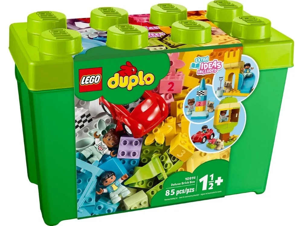 Lego Duplo - Велика коробка з кубиками (Deluxe Brick Box, 85 дет), 18м+ (10914)