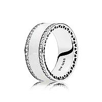 """Серебряное широкое кольцо Pandora """"Сердца """" 191024EN23"""