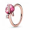 """Серебряное кольцо Pandora """"Розовые листья"""" 188319PMU"""