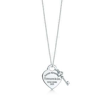 Срібна підвіска Heart Tag with Key Pendant Tiffany & Co