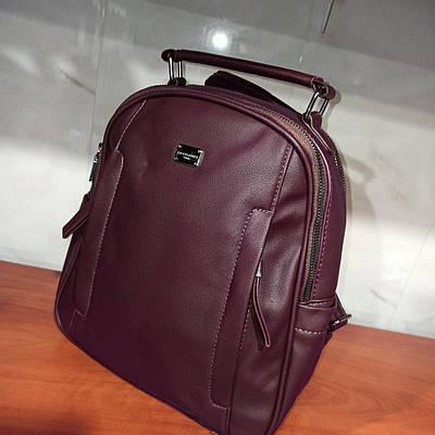 Красивый женский городской кожаный рюкзак. Модель 8811