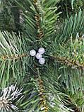 """Елка  искусственная с серебряными шишками и жемчугом """"Кармен"""", в снегу, пышная густая, 200 см, с подставкой, фото 6"""