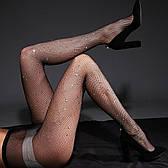 Колготки женские со стразами черные - 314-04