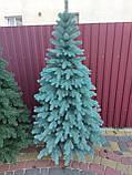 """Елка  искусственная литая """"Буковская"""", пышная густая, 210 см, с подставкой, в коробке, голубая, фото 3"""