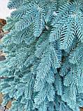 """Елка  искусственная литая """"Буковская"""", пышная густая, 210 см, с подставкой, в коробке, голубая, фото 7"""