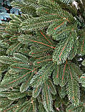 """Елка """"Премиум""""  искусственная литая зеленая, пышная густая, 210 см, с подставкой, в коробке, фото 3"""