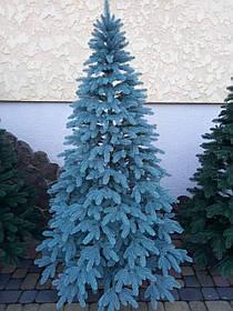 """Елка """"Премиум""""  искусственная литая голубая, пышная густая, 180 см, с подставкой, в коробке"""