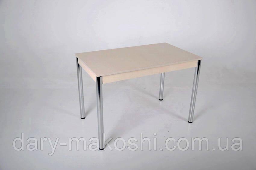 Стол Тавол Видрис Большой 110смх65смх75см с хромированными металлическими ногами Молочный
