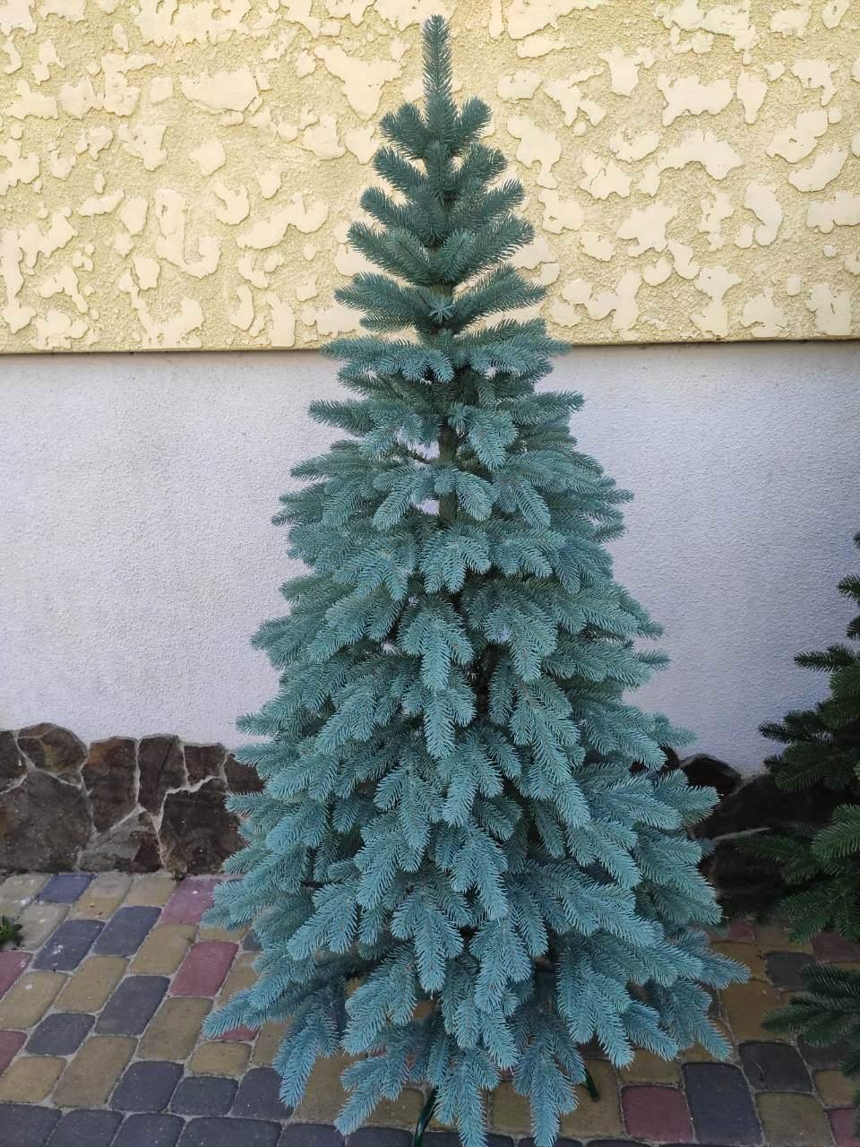 """Елка """"Элитная""""  искусственная литая зеленая, пышная густая, 210 см, с подставкой, в коробке"""
