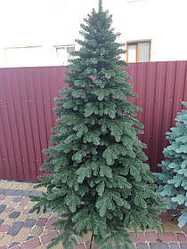 """Ялинка """"Елітна"""" штучна лита зелена, пишна густа, 230 см, з підставкою, в коробці"""