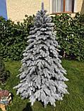 """Елка  искусственная литая """"Элитная"""" пышная густая, 210 см, с подставкой, в коробке,  в снегу, фото 6"""
