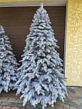 """Елка  искусственная литая """"Элитная"""" пышная густая, 230 см, с подставкой, в коробке,  в снегу, фото 4"""