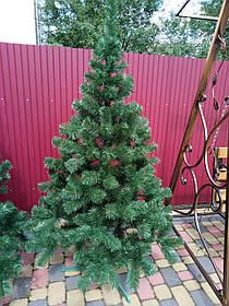 """Елка, ель искусственная зеленая """"Карпатская"""", на Новый год, с подставкой, 220 см"""