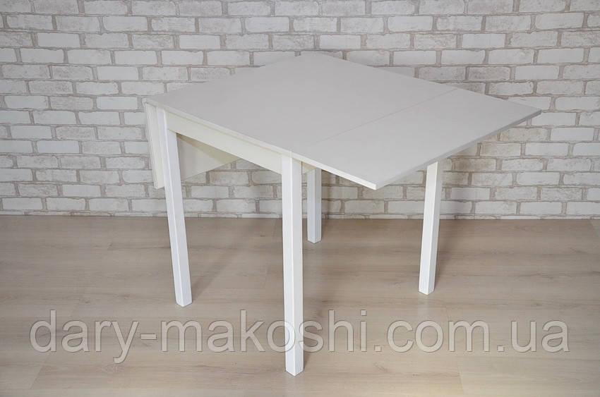 Раскладной стол с откидными полами Тавол Фолди ножки прямые деревянные Белый