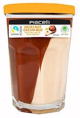 Шоколадная паста Piacelli Duo Hazelnut Cream, 350 г., Австрия, банка стекло (граненный стакан)