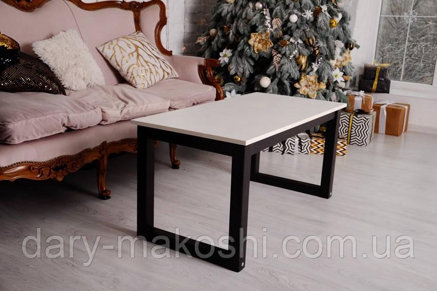 Журнальний стіл Тавол Тэста Лофт 100смх50смх45см Білий