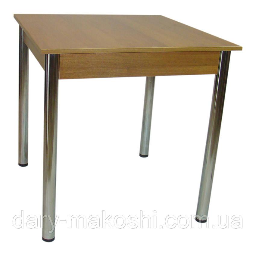 Стол Тавол Квадрат 75 см х 75 см х 75 см ноги хром метал Орех