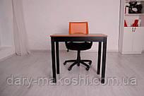Мини компьютерный стол Тавол Пиколо ножки натуральное дерево 80смх40смх75см Орех