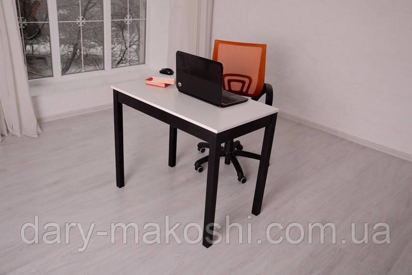 Стол Тавол Пиколо ножки натуральное дерево 90смх55смх75см Черно-Белый