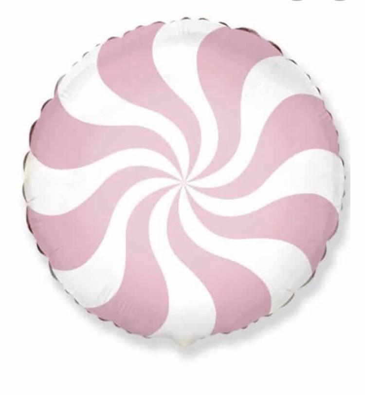 Фольгированный шар карамелька розовая 44 см