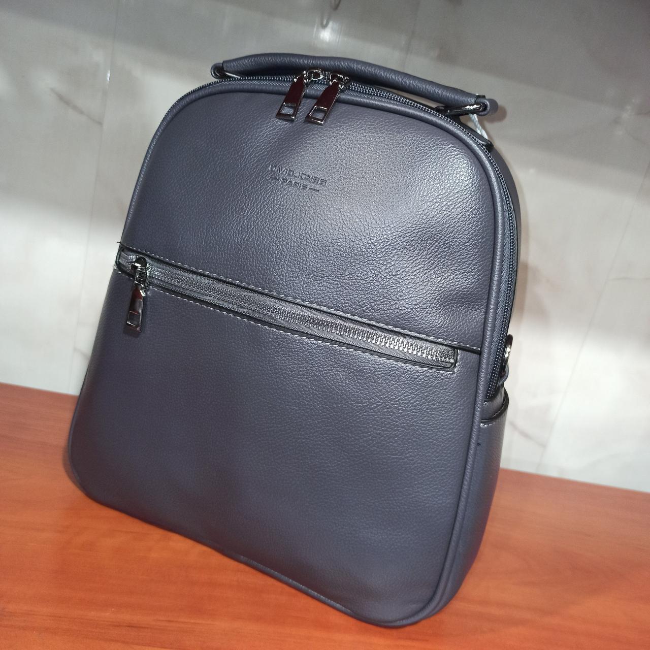 Красивый женский городской кожаный рюкзак. Модель 1819
