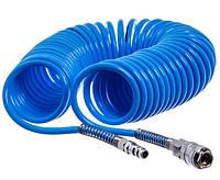 Шланг спиральный быстросъёмный L=5м 6,5*10мм полиуретановый AIRKRAFT AHC46-E