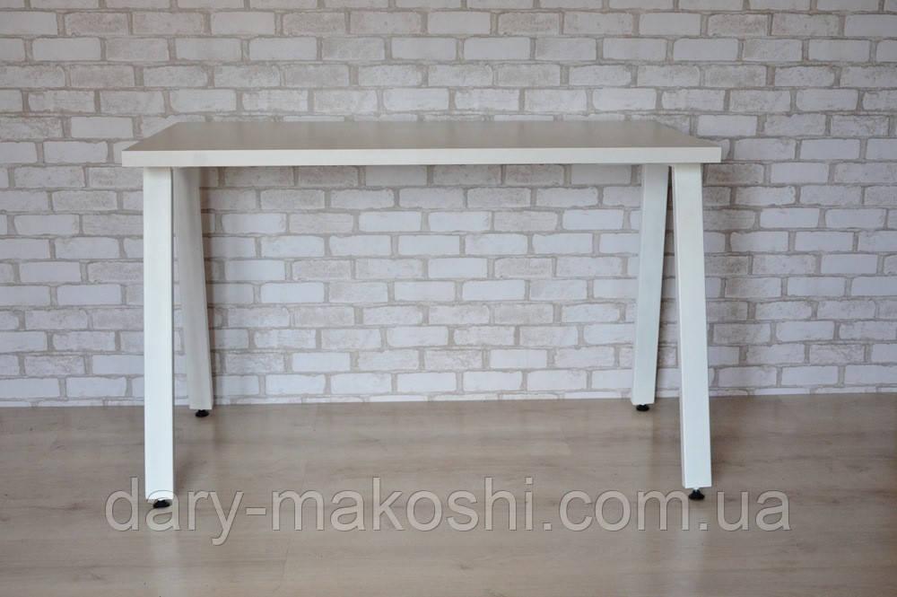 Стіл Тавол КС 8.4 метал опори білі 120смх60смх75см ДСП 32мм Білий