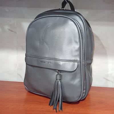 Красивый женский городской кожаный рюкзак. Модель 8816