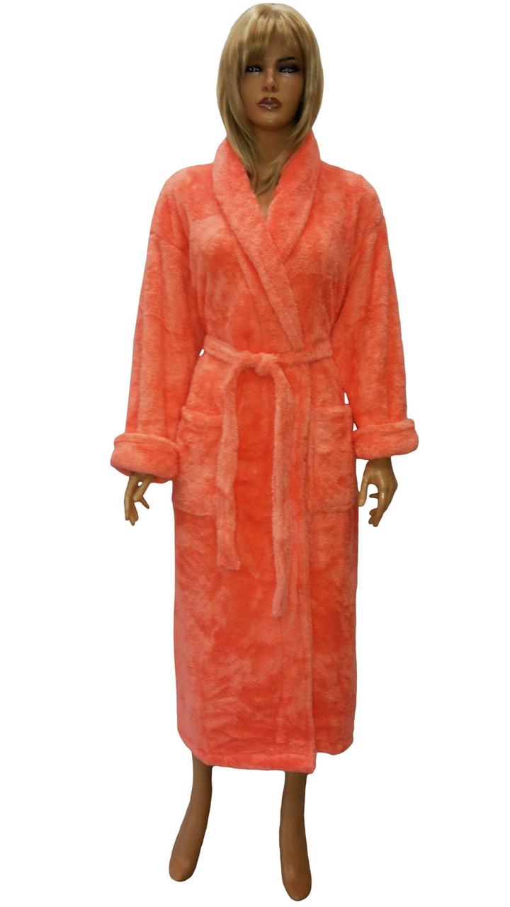 Халат пушистый большого размера (женский) Massimo Monelli