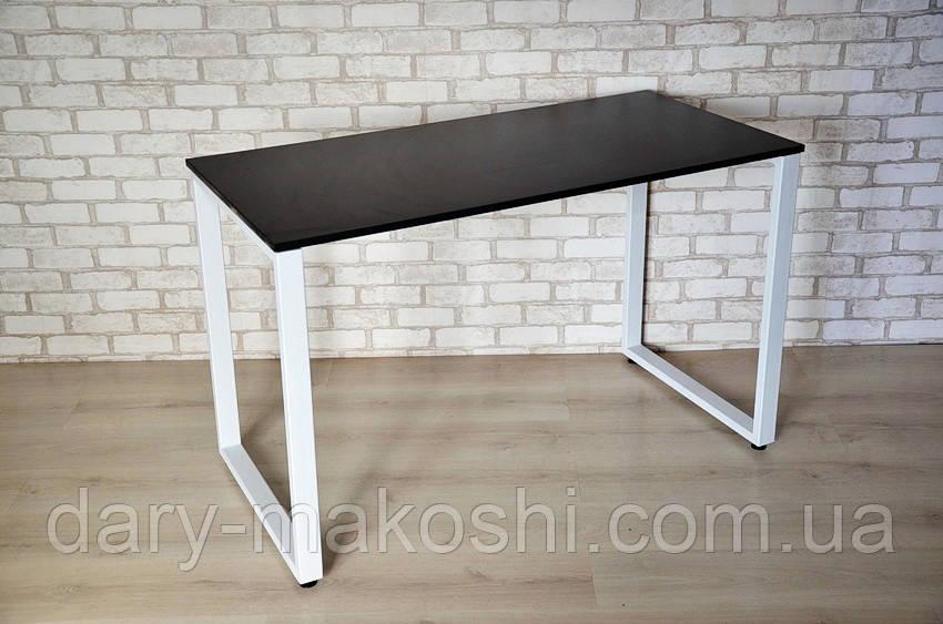Стол Тавол КС 8.1 металл опоры белые 120смх60смх75см ДСП 16 мм Черный