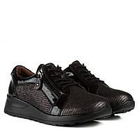 Туфлі жіночі шкіряні чорні на платформі Meegocomfort 39