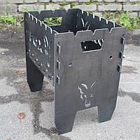 Мангал карпятника рыбацкий подарочный с надписью Fox 5мм (можно изготовить под ваш дизайн)., фото 1